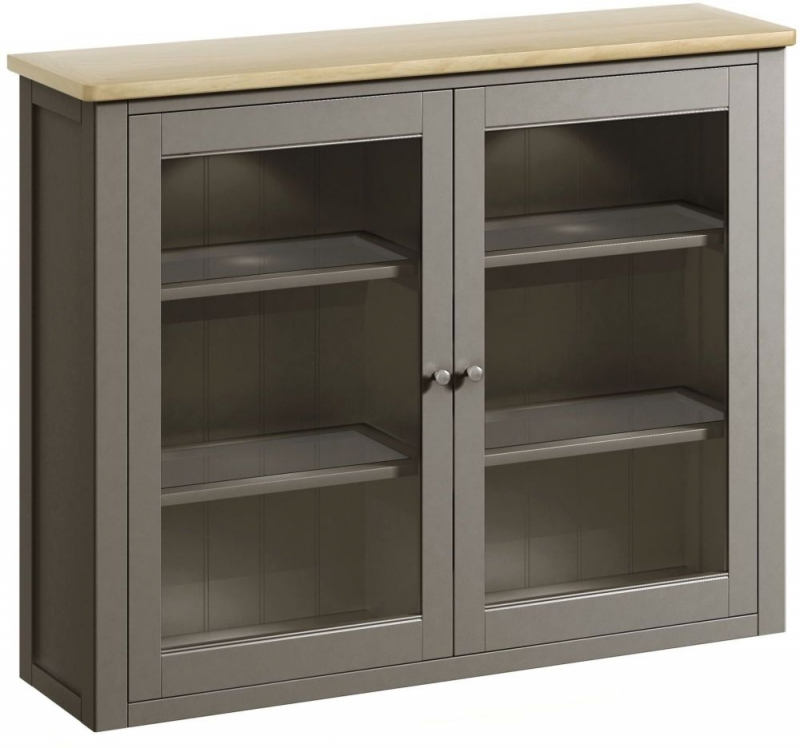 Harmony Oak and Grey Painted Kitchen Dresser