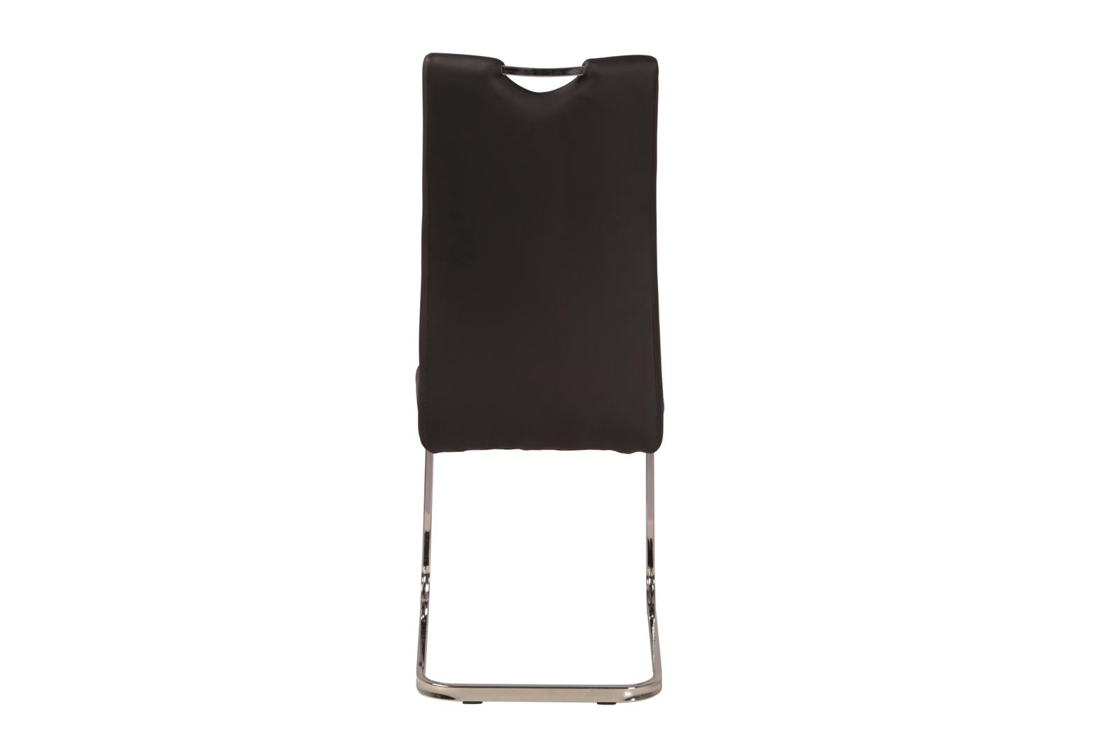 Urban Deco Nikko Black Faux Leather Swing Dining Chair
