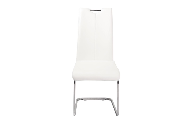 Urban Deco Nikko Cream Faux Leather Swing Dining Chair
