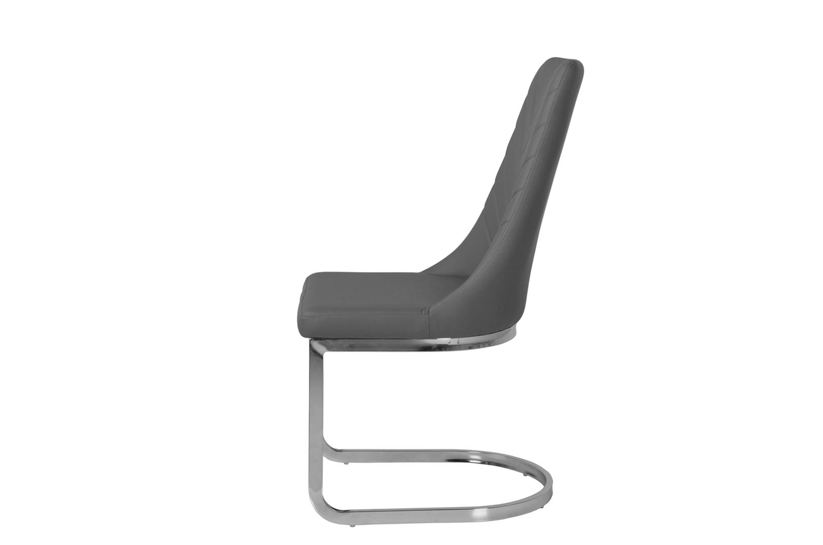 Urban Deco Phoenix Grey Faux Leather Swing Dining Chair