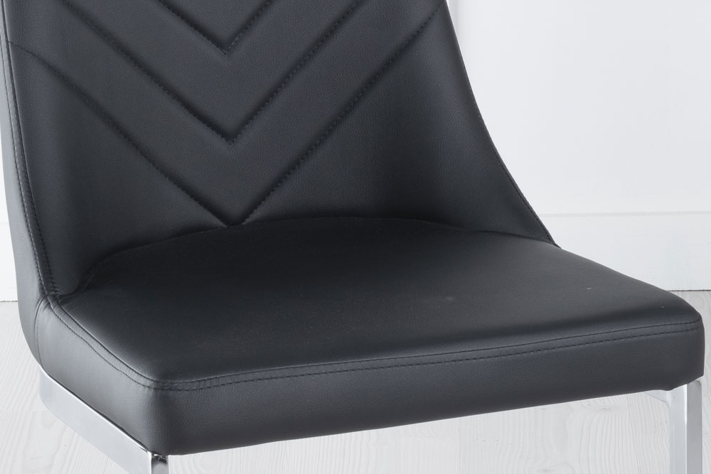 Phoenix Metal Black Dining Chair