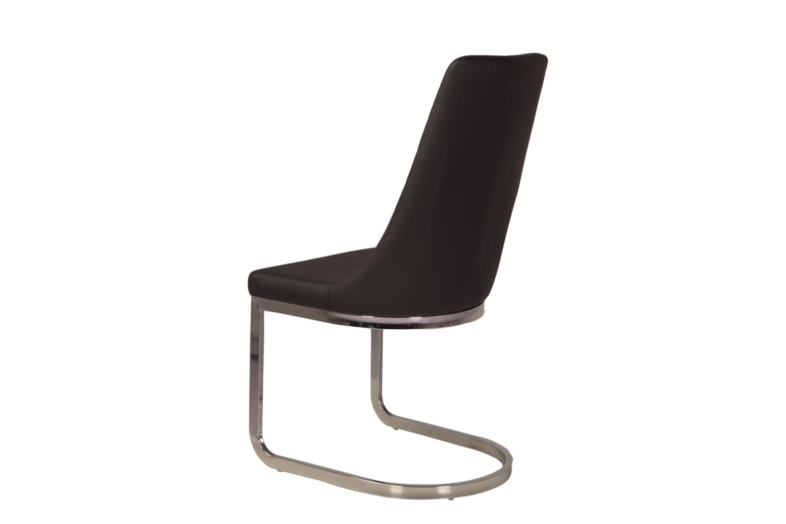 Urban Deco Phoenix Black Faux Leather Swing Dining Chair