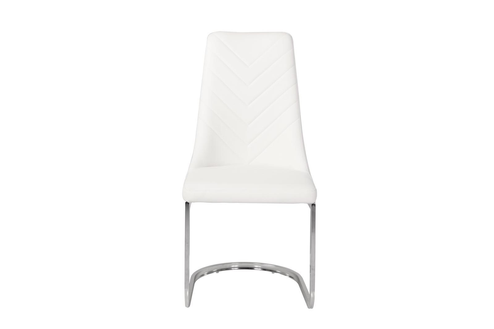 Urban Deco Phoenix Cream Faux Leather Swing Dining Chair