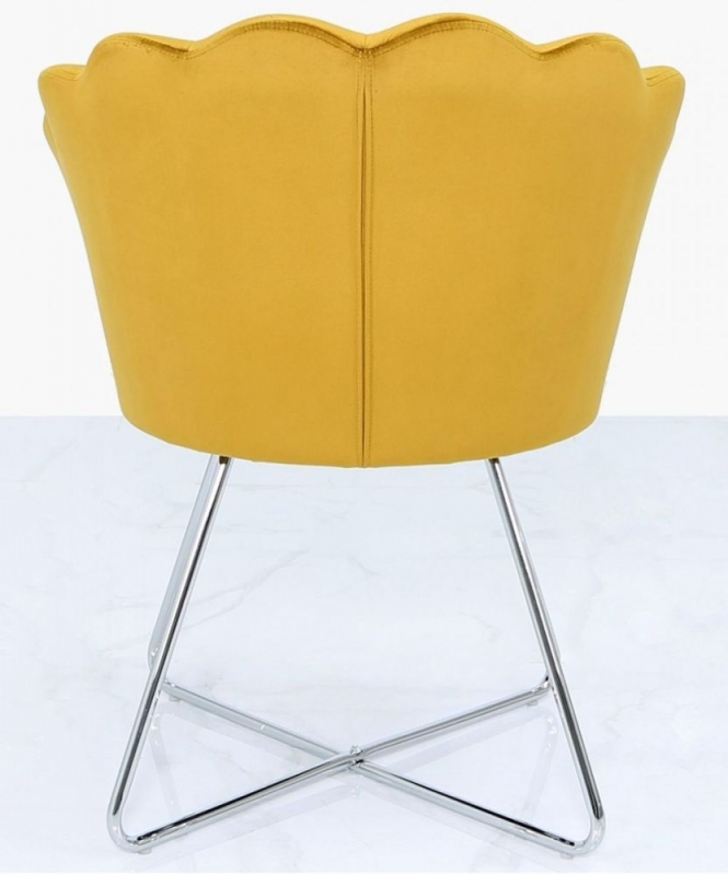 Bicester Mustard Yellow Fabric Dining Chair (Pair)