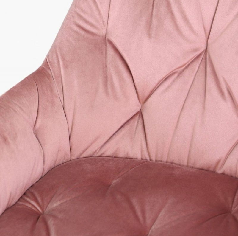 Clare Rose Pink Velvet Fabric Dining Chair (Pair)