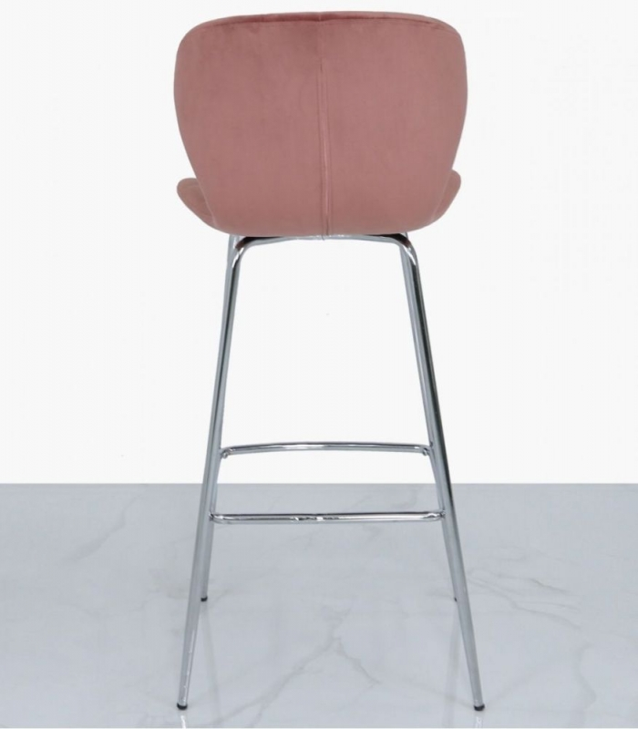 Stroud Rose Pink Curve Bar Stool (Set of 2)