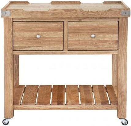 Handmade Oak 2 Drawer Butchers Block