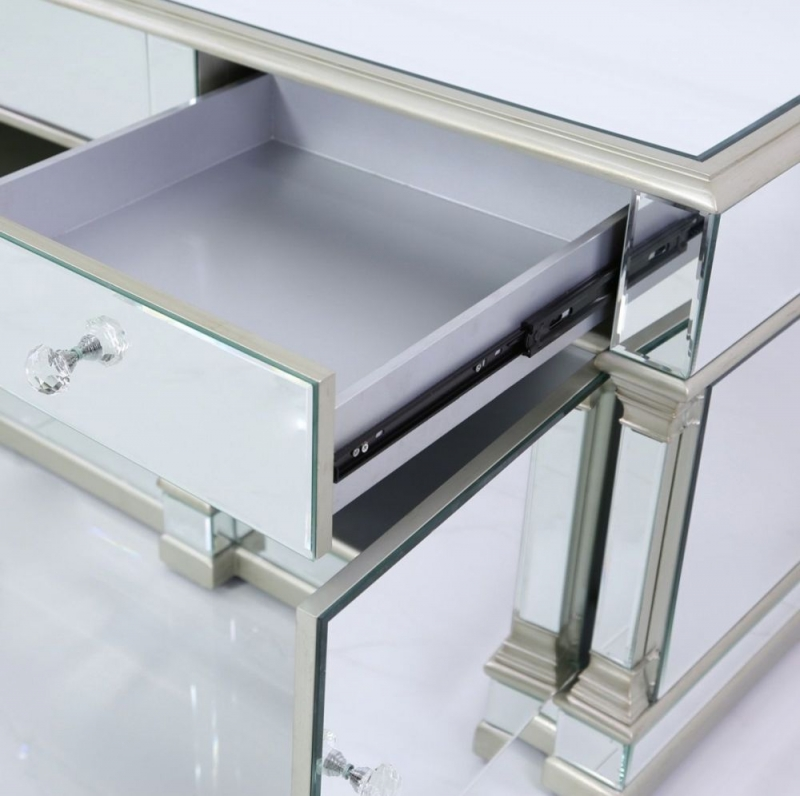 Antrim Silver Mirrored TV Unit
