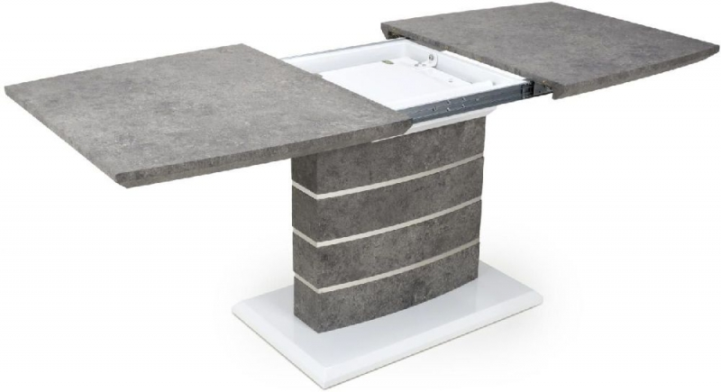 Shankar Atlas Grey and White Granite Effect 140cm-180cm Extending Dining Table