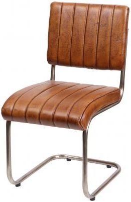 Ribbed Leather Dining Chair (Pair)