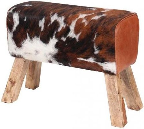 Leather Cowhide Hair Pommel Horse Stool