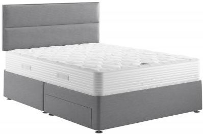 Slumberland Comfort Pure 650 Mountain Grey Fabric Divan Bed