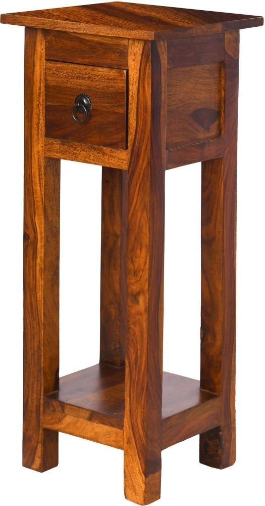Ganga Indian Sheesham Wood Narrow Telephone Table