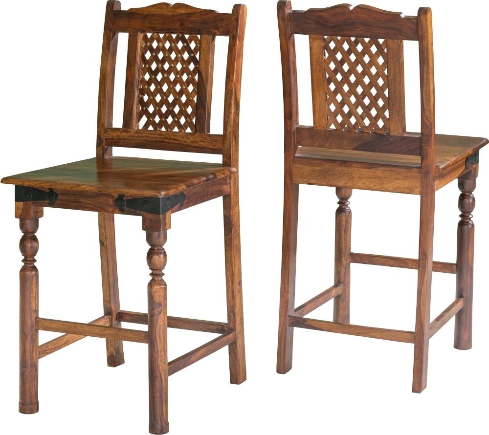 Jali Indian Sheesham Wood Barstool