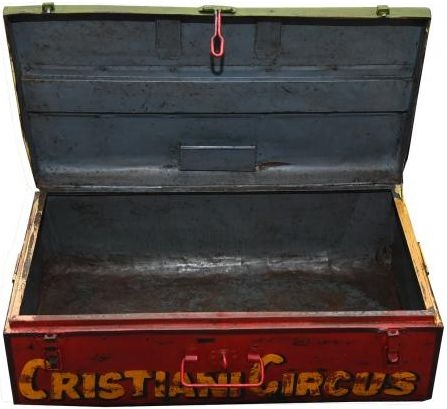 Hand Painted Circus Iron Trunk