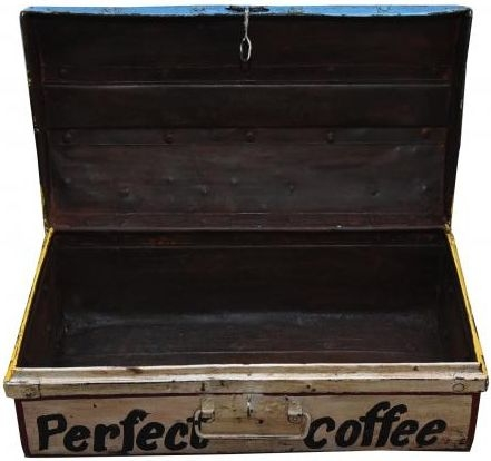 Hand Painted Coffee Iron Trunk