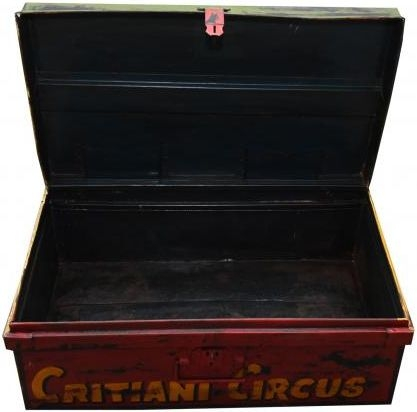 Hand Painted Carnival Iron Trunk