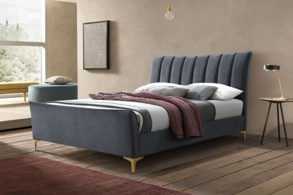 Birlea Clover Grey Velvet Fabric Bed