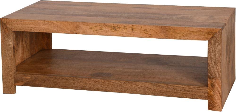 Dakota Indian Mango Wood Evolution Coffee Table - Light
