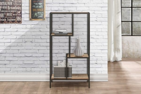 Birlea Urban Rustic Medium Shelving Unit with Metal Frame