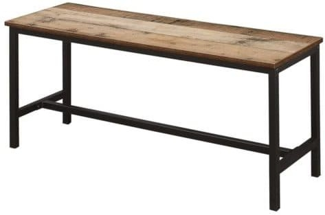 Birlea Urban Rustic Dining Table and 2 Bench with Metal Frame