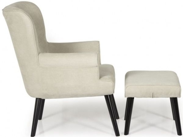 Clearance Half Price - Serene Oban Mink Fabric Armchair - New - FS372