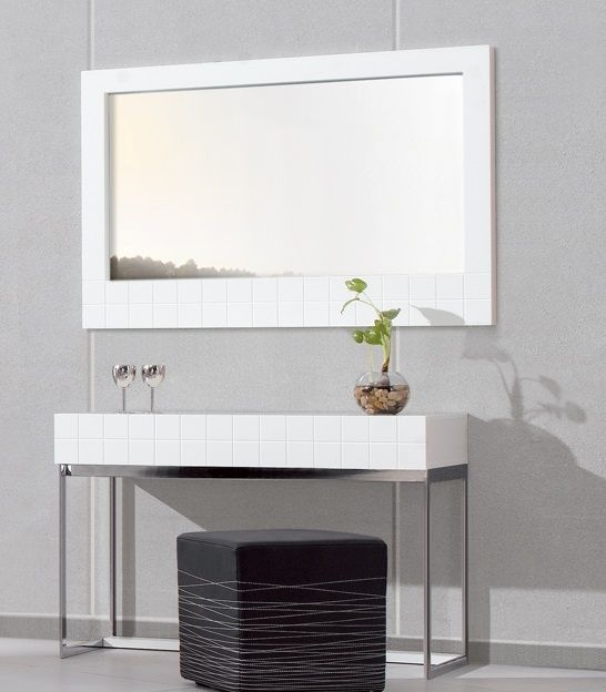 Hoxton White Landscape Wall Hanging Mirror