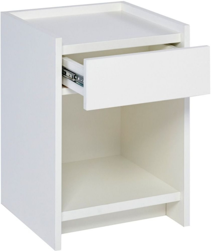 Ambridge White 1 Drawer Bedside Cabinet