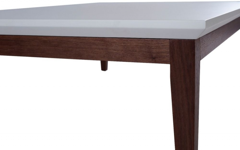 Stratford Off White and Walnut Coffee Table