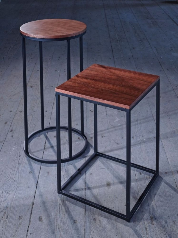 Westminster Walnut and Black Square Lamp Stand