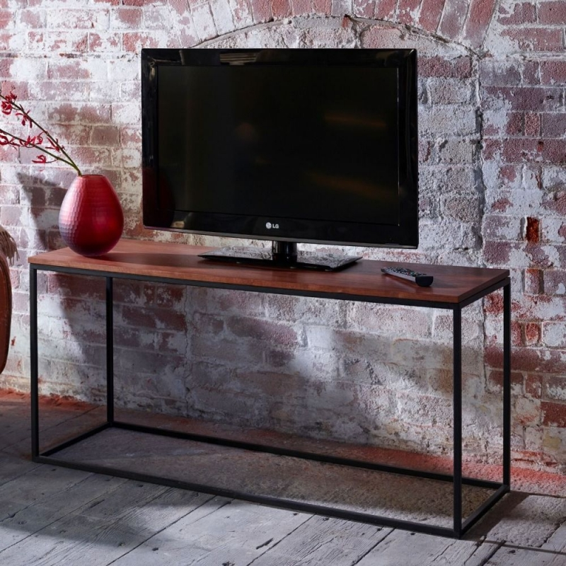 Westminster Walnut and Black TV Stand
