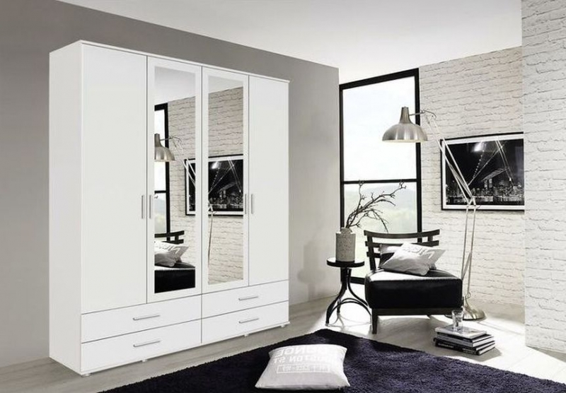 Rauch Rasant Combi Wardrobe with Mirror Front