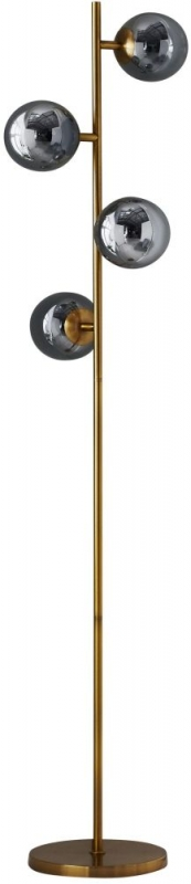 Four Sphere Gold Tall Floor Lamp