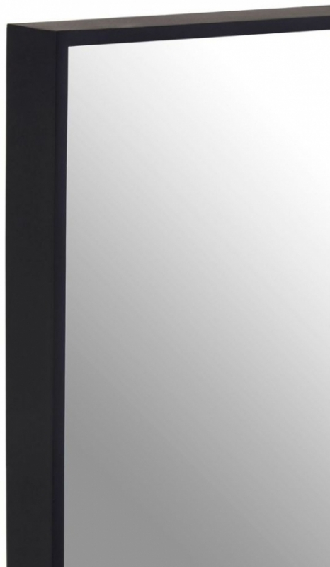 Clearance Half Price - Matt Black Square Wall Mirror - 32cm x 32cm - New - 222