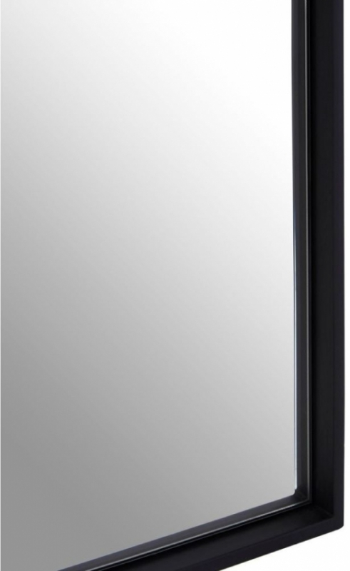 Clearance Half Price - Matt Black Square Wall Mirror - 32cm x 32cm - New - 218