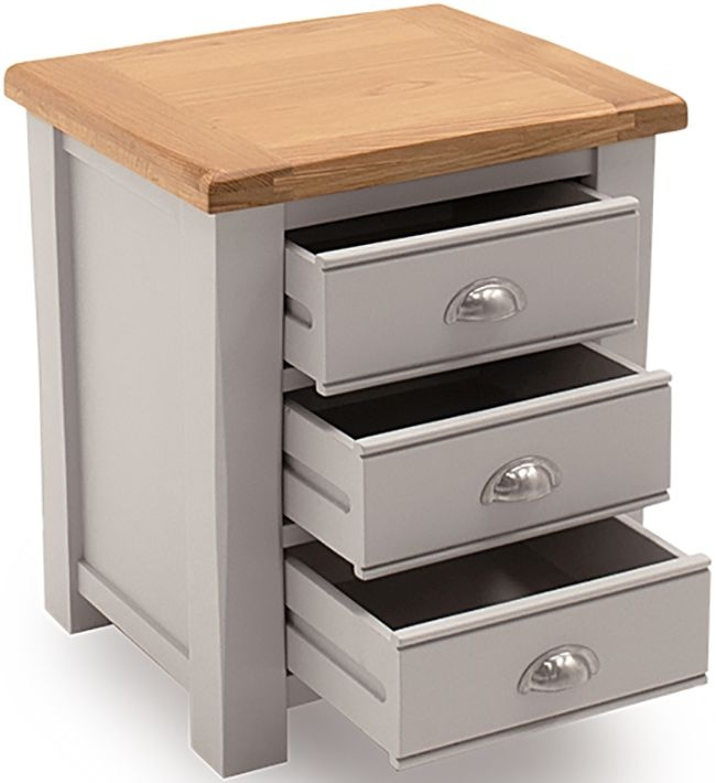 Vida Living Amberly Grey Painted Bedside Table