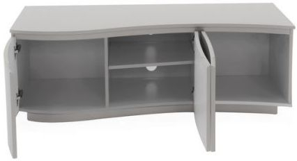 Vida Living Lazzaro Light Grey Matt TV Cabinet with LED