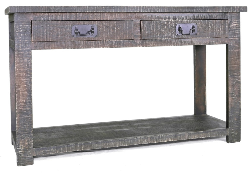 Urban Deco Shabby Chic Dark Distressed Console Table