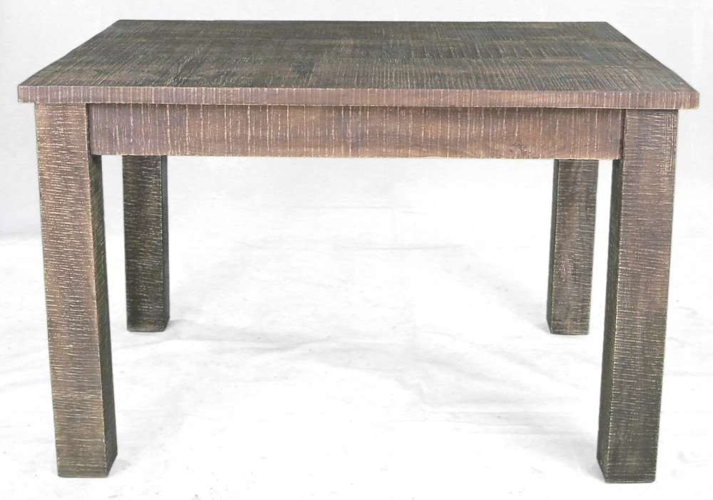 Urban Deco Shabby Chic Dark Distressed Rectangular Dining Table - 150cm