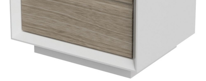 Devonshire Corton Grey Painted and Oak Bedside Cabinet