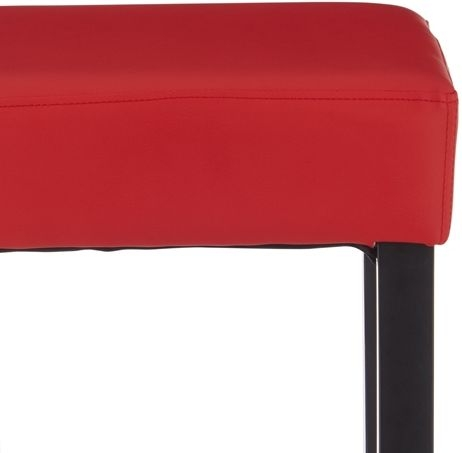 Serene Lantana Red Faux Leather Barstool with Black Legs (Set of 2)