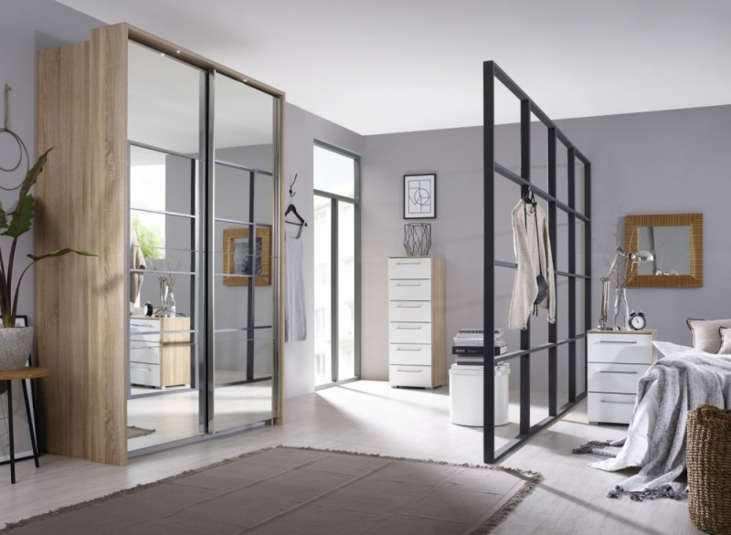 Rauch Ellesse Sliding Wardrobe with Full Mirror Front