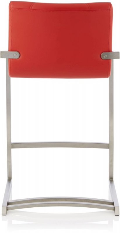 Serene Spruce Red Faux Leather Barstool (Set of 2)