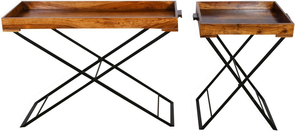 Urban Deco Wood Jali Sheesham Small Butler Tray