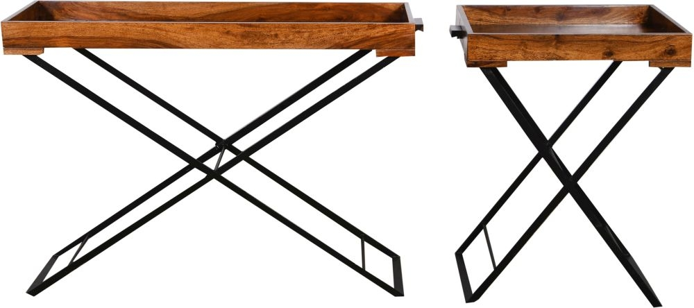 Urban Deco Wood Jali Sheesham Large Butler Tray