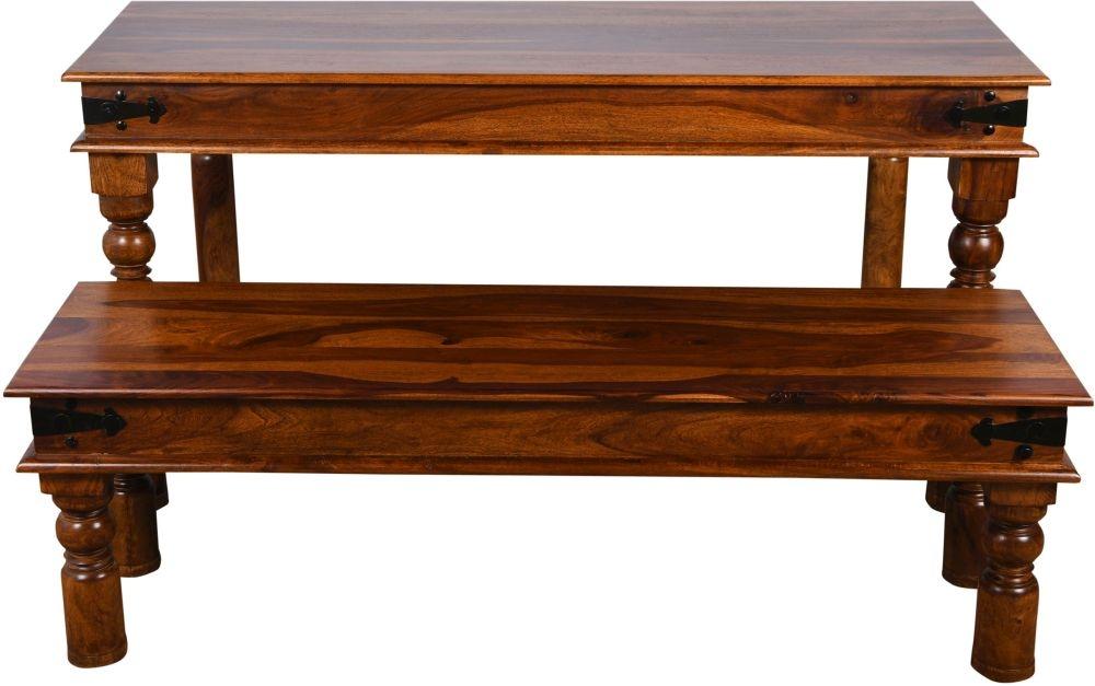 Ganga Indian Sheesham Wood 150cm Rectangular Dining Table