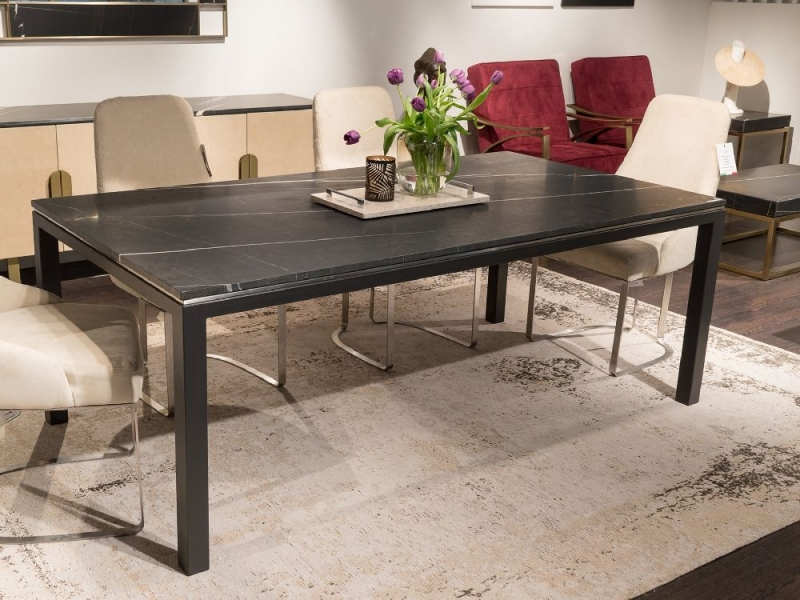 Stone International Stilo Marble and Metal Dining Table