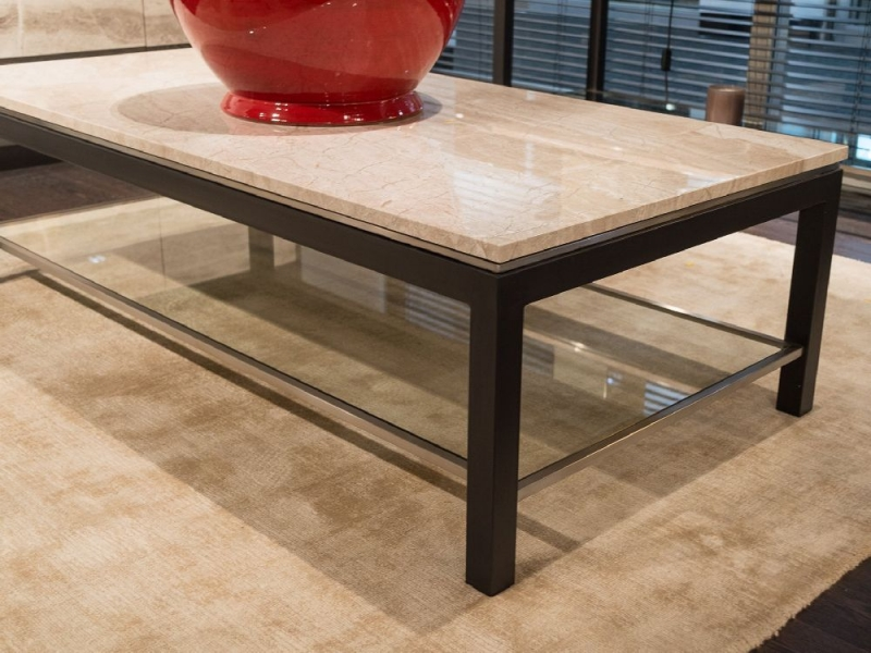 Stone International Stilo Marble and Metal Occasional Tables