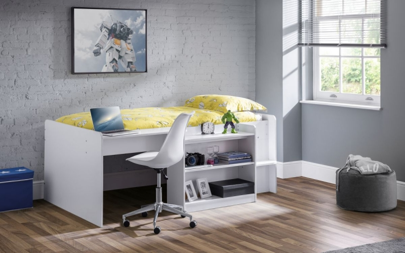 Julian Bowen Neptune White Midsleeper Bed