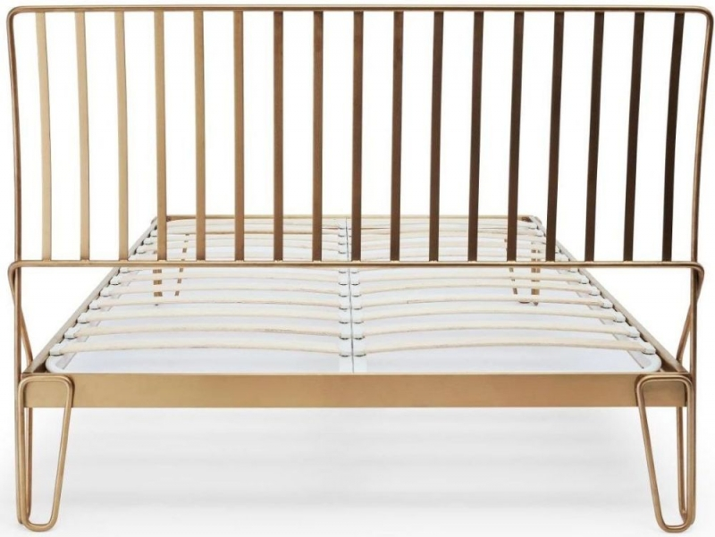 Finn Brass Brushed Bedstead
